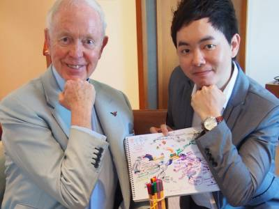 Tony Buzan and Ryu Archirawish